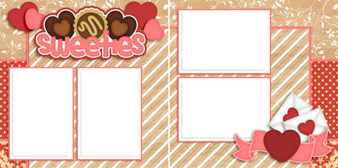 Sweeties - Digital Scrapbook Pages - INSTANT DOWNLOAD