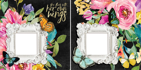 She Flies - Digital Scrapbook Pages - INSTANT DOWNLOAD - 2019
