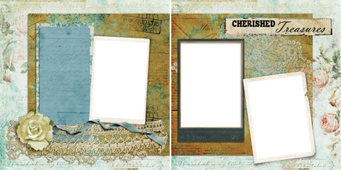 Cherished Treasures - Digital Scrapbook Pages - INSTANT DOWNLOAD