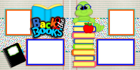 Back to the Books - Digital Scrapbook Pages - INSTANT DOWNLOAD
