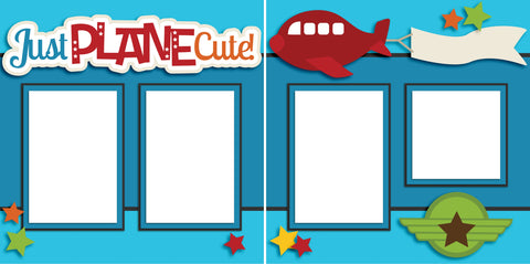 Just Plane Cute - Digital Scrapbook Pages - INSTANT DOWNLOAD - EZscrapbooks Scrapbook Layouts Baby - Toddler, Boys