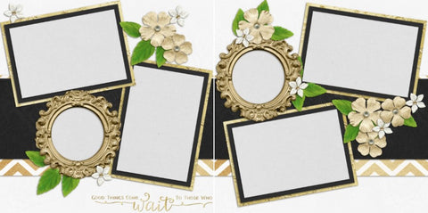 Wedding FIVE - 661 - EZscrapbooks Scrapbook Layouts Wedding