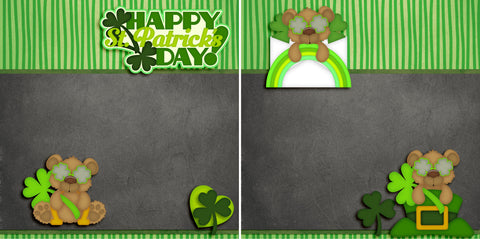 Happy St Patrick's Day NPM - 2823 - EZscrapbooks Scrapbook Layouts St Patrick's Day