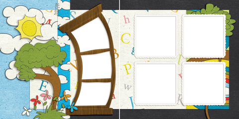 ABC's - Digital Scrapbook Pages - INSTANT DOWNLOAD