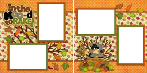 In the Mood to Rake - Digital Scrapbook Pages - INSTANT DOWNLOAD - EZscrapbooks Scrapbook Layouts