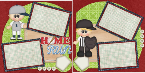 Home Run - 48 - EZscrapbooks Scrapbook Layouts baseball, Sports
