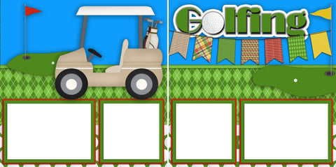Golfing - Digital Scrapbook Pages - INSTANT DOWNLOAD