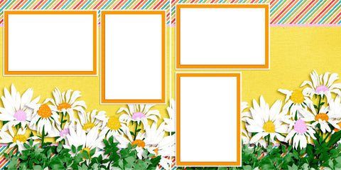 Daisies - Digital Scrapbook Pages - INSTANT DOWNLOAD - 2019