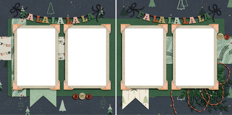 FaLaLa - Digital Scrapbook Pages - INSTANT DOWNLOAD - 2019