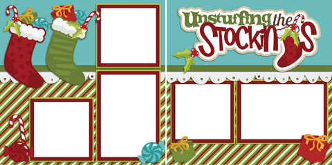 Unstuffing the Stockings - Digital Scrapbook Pages - INSTANT DOWNLOAD