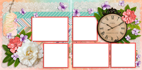 Time Flies - Digital Scrapbook Pages - INSTANT DOWNLOAD - 2019