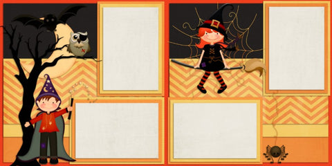Kids of Halloween - 352 - EZscrapbooks Scrapbook Layouts Halloween