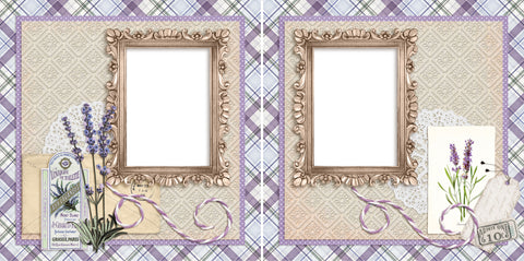 Lavender - Digital Scrapbook Pages - INSTANT DOWNLOAD