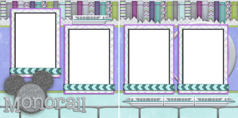 Monorail - Digital Scrapbook Pages - INSTANT DOWNLOAD