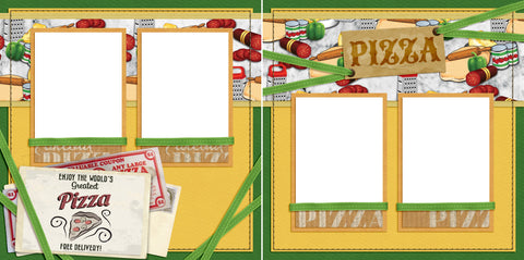 World's Greatest Pizza - Digital Scrapbook Pages - INSTANT DOWNLOAD - EZscrapbooks Scrapbook Layouts pizza, takeout
