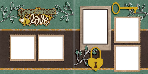 Generations of Love - Digital Scrapbook Pages - INSTANT DOWNLOAD