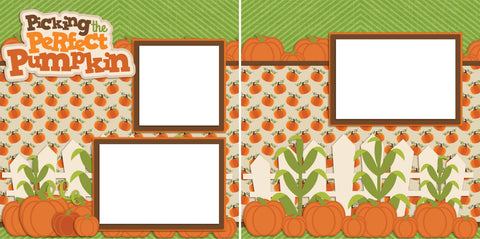 Picking the Perfect Pumpkin - Digital Scrapbook Pages - INSTANT DOWNLOAD