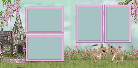 Spring Cottage - 2833 - EZscrapbooks Scrapbook Layouts Girls, Littles, Spring - Easter