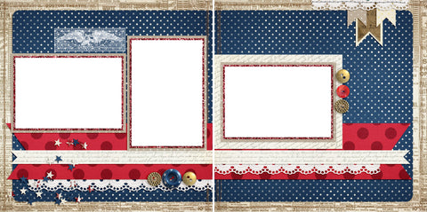 Americana - Digital Scrapbook Pages - INSTANT DOWNLOAD - 2019