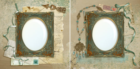 Vintage Treasures - Digital Scrapbook Pages - INSTANT DOWNLOAD