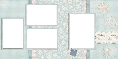Winter Wonderland - Digital Scrapbook Pages - INSTANT DOWNLOAD