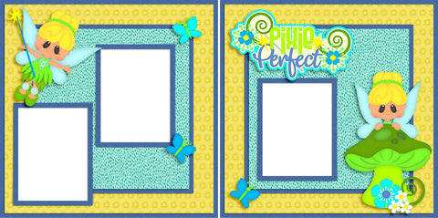 Pixie Perfect - Disney - Digital Scrapbook Pages - INSTANT DOWNLOAD