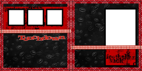 Football - Digital Scrapbook Pages - INSTANT DOWNLOAD - EZscrapbooks Scrapbook Layouts Sports