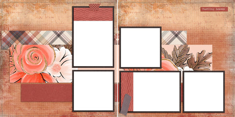 Then Comes Autumn - Digital Scrapbook Pages - INSTANT DOWNLOAD - EZscrapbooks Scrapbook Layouts Fall - Autumn