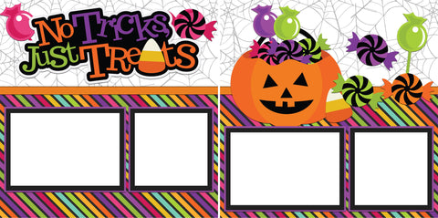 No Tricks Just Treats  -Digital Scrapbook Pages - INSTANT DOWNLOAD