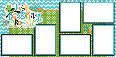 Just Goofin' Around - Digital Scrapbook Pages - INSTANT DOWNLOAD - EZscrapbooks Scrapbook Layouts Disney