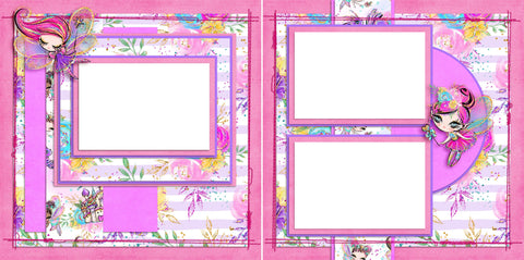 Fairy Princesses - Digital Scrapbook Pages - INSTANT DOWNLOAD