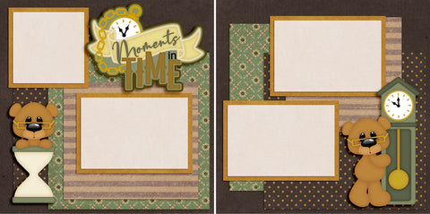Moments In Time - Digital Scrapbook Pages - INSTANT DOWNLOAD