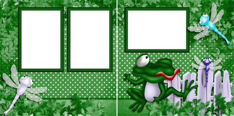Frogger - Digital Scrapbook Pages - INSTANT DOWNLOAD - 2019