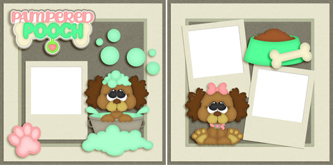 Pampered Pooch - Dog - Digital Scrapbook Pages - INSTANT DOWNLOAD