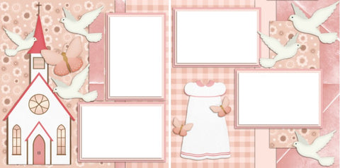 Baptism Girl - Digital Scrapbook Pages - INSTANT DOWNLOAD