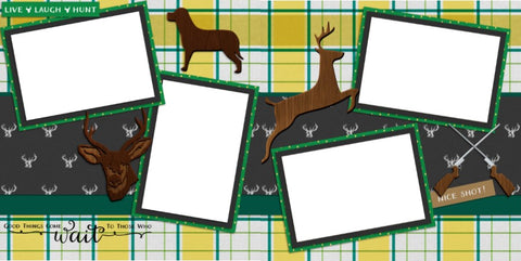 Hunting - Digital Scrapbook Pages - INSTANT DOWNLOAD
