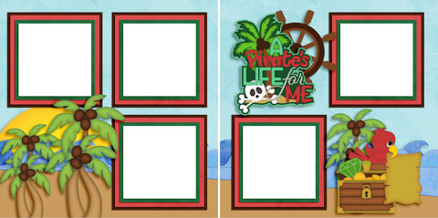 A Pirate's Life - Digital Scrapbook Pages - INSTANT DOWNLOAD