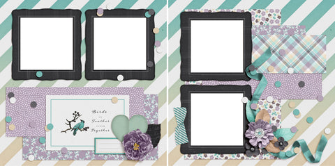 Birds of a Feather - Digital Scrapbook Pages - INSTANT DOWNLOAD