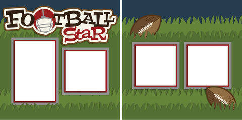 Football Star - Digital Scrapbook Pages - INSTANT DOWNLOAD - EZscrapbooks Scrapbook Layouts Sports