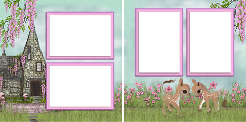 Spring Cottage - Digital Scrapbook Pages - INSTANT DOWNLOAD