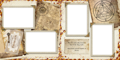 Wizard Plans - Digital Scrapbook Pages - INSTANT DOWNLOAD - EZscrapbooks Scrapbook Layouts magic, wizard
