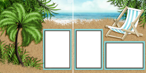 Beach Paradise - Digital Scrapbook Pages - INSTANT DOWNLOAD - 2019