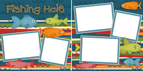 Fishing Hole - Digital Scrapbook Pages - INSTANT DOWNLOAD