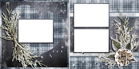 Frosted Branches - Digital Scrapbook Pages - INSTANT DOWNLOAD