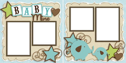Baby Mine Boy - Digital Scrapbook Pages - INSTANT DOWNLOAD - 2019