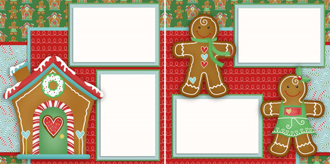 Gingerbread - 2352 - EZscrapbooks Scrapbook Layouts Christmas