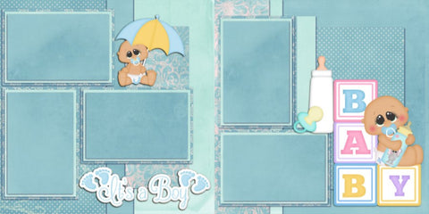 New Baby Boy - 45 - EZscrapbooks Scrapbook Layouts Baby - Toddler