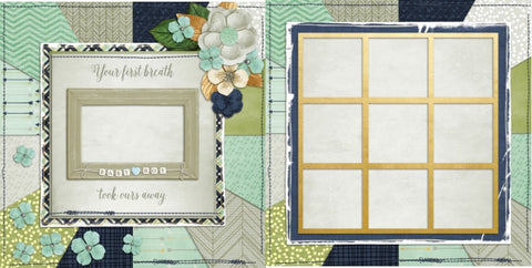 Baby Boy Scrapbook Pages - Collection 1 - EZscrapbooks Scrapbook Layouts Baby - Toddler