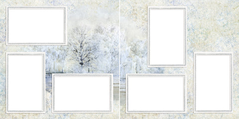 Stillness of Winter - Digital Scrapbook Pages - INSTANT DOWNLOAD - EZscrapbooks Scrapbook Layouts holiday, snow, winter