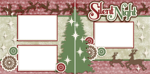 Silent Night - Digital Scrapbook Pages - INSTANT DOWNLOAD - EZscrapbooks Scrapbook Layouts Christmas